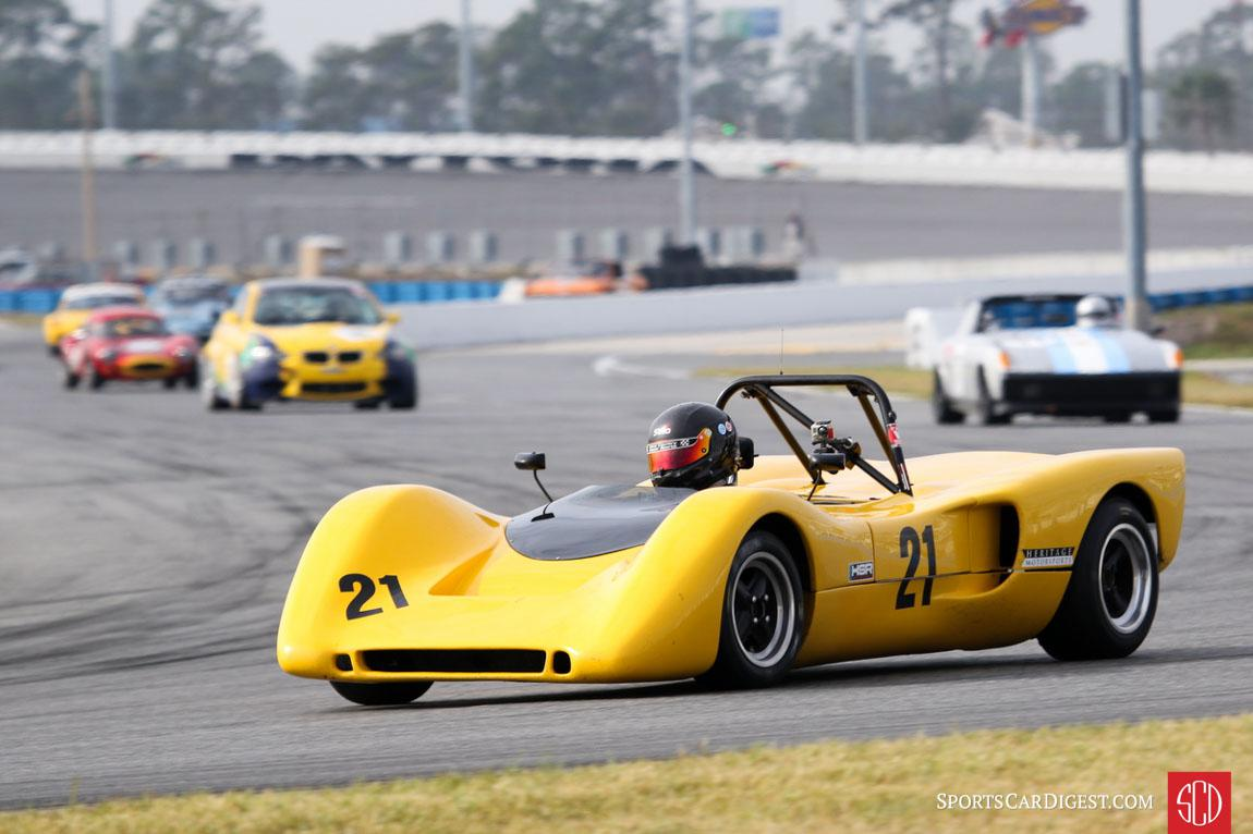 Brian Johnson racing at Daytona, photograph by Richard Carlino