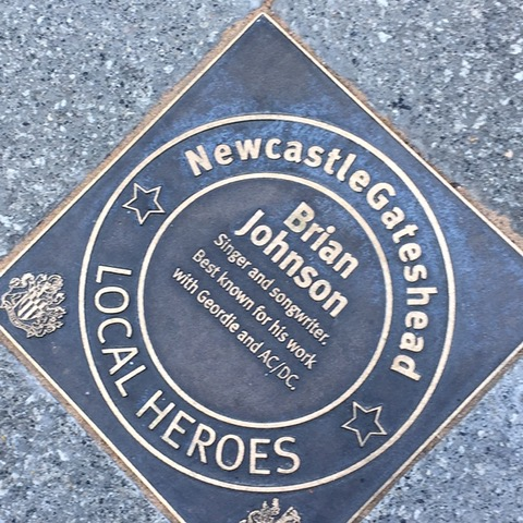 Brian Johnson Local Heroes Plaque Newcastle